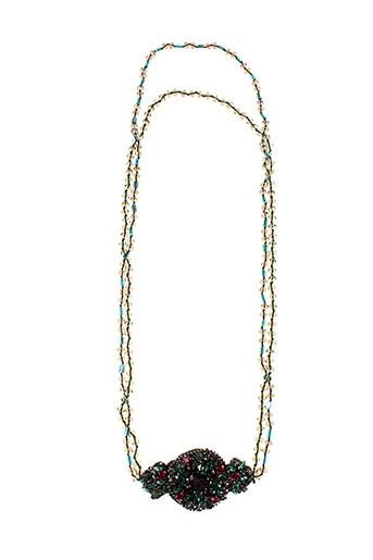 ambre colliers femme de couleur bleu (photo)