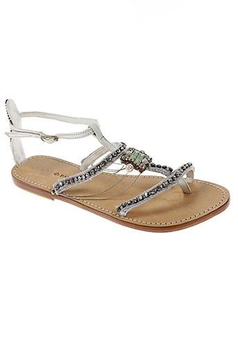 ambre et babzoe sandales et nu et pieds femme de couleur blanc