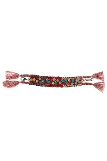 ambre et babzoe bracelets femme de couleur rouge (photo)