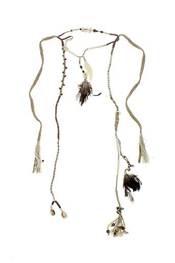 ambre et babzoe colliers femme de couleur beige (photo)