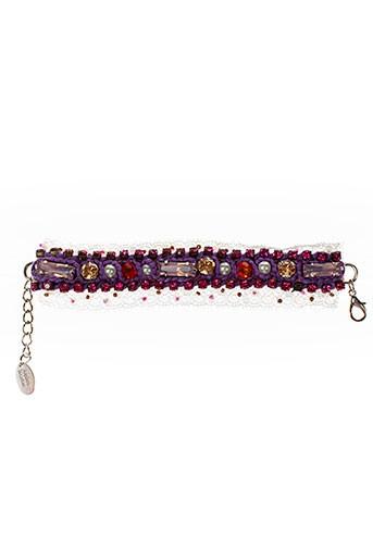 ambre et babzoe bracelets femme de couleur violet (photo)