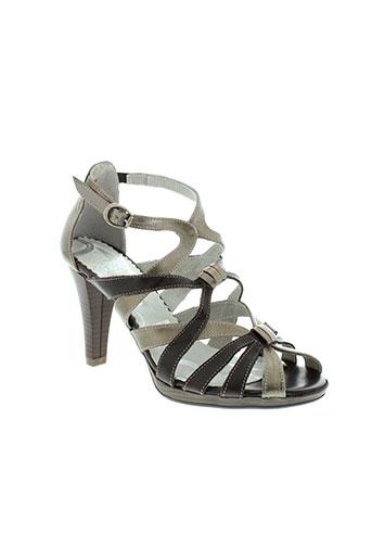 pomares et vazquez sandales et nu et pieds femme de couleur gris
