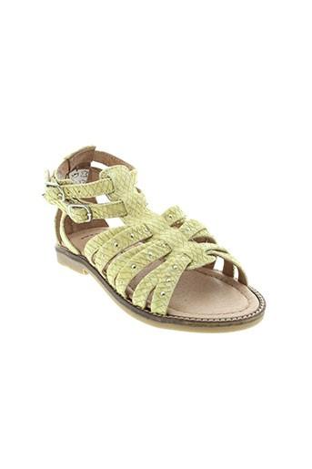 romagnoli sandales et nu et pieds fille de couleur jaune