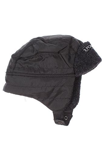 3 et pommes chapeaux et bonnets garcon de couleur noir (photo)