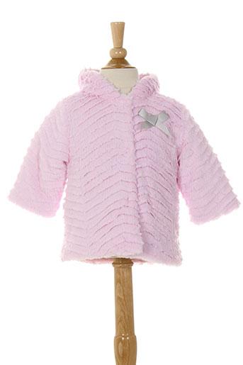 3 et pommes manteaux et longs fille de couleur rose (photo)