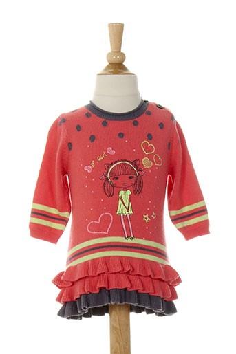 3 et pommes robes et pulls fille de couleur rose (photo)
