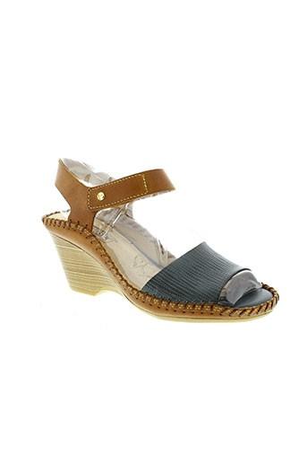 pikolinos sandales et nu et pieds femme de couleur bleu