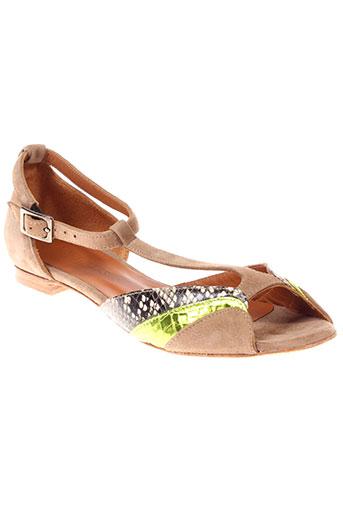 new et lovers sandales et nu et pieds femme de couleur beige