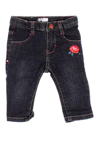 absorba jeans et coupe et droite fille de couleur bleu (photo)