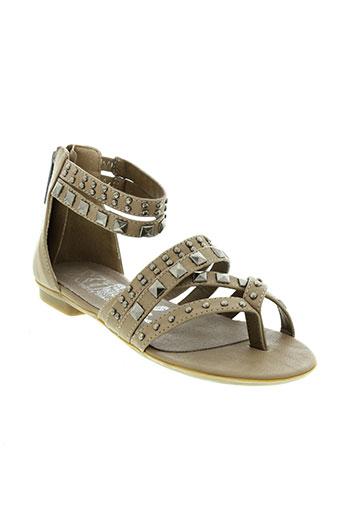 xti sandales et nu et pieds fille de couleur marron