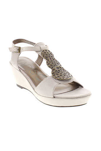 madison sandales et nu et pieds femme de couleur gris