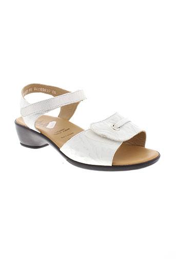 solidus sandales et nu et pieds femme de couleur blanc