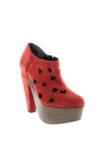 robert et clergerie boots femme de couleur rouge
