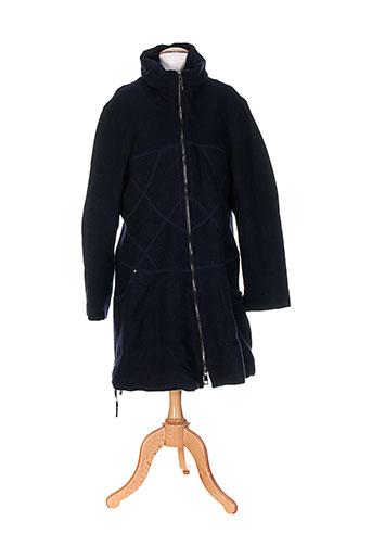 3322 manteaux et longs femme de couleur bleu (photo)