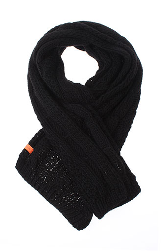 7 et seasons echarpes et gants femme de couleur noir (photo)