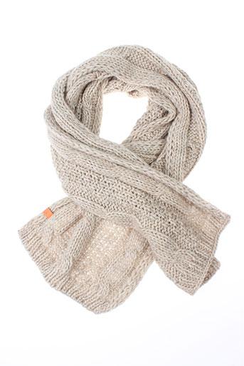 7 et seasons echarpes et gants femme de couleur beige (photo)