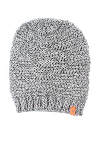 7 et seasons chapeaux et bonnets femme de couleur gris (photo)