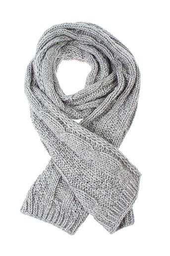 7 et seasons echarpes et gants femme de couleur gris (photo)