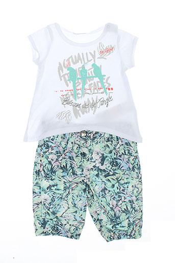 3 et pommes t et shirt et pantalon fille de couleur blanc (photo)