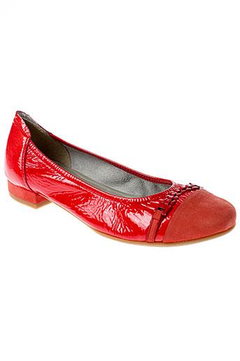 sabrinas ballerines femme de couleur rouge