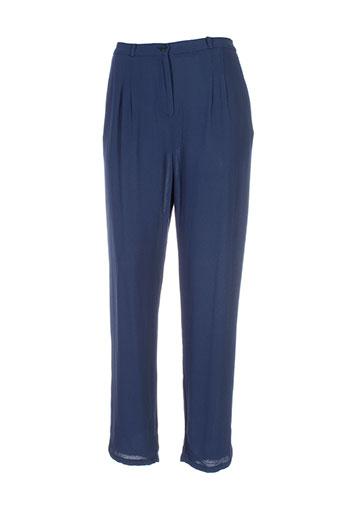 american et vintage pantalons et citadins femme de couleur bleu