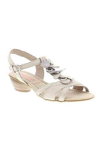 dorking sandales et nu et pieds femme de couleur beige