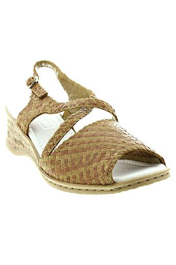 dorndorf sandales et nu et pieds femme de couleur marron
