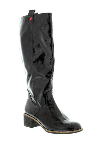 mellow et yellow bottes femme de couleur noir