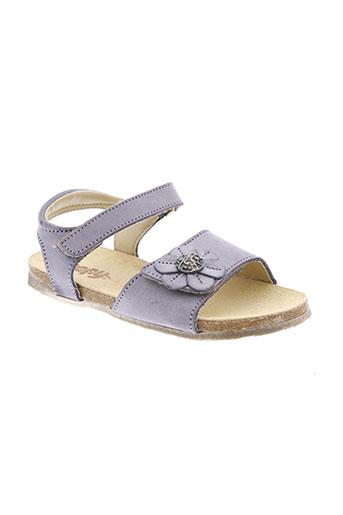 bopy sandales et nu et pieds fille de couleur violet