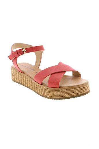la et fee et maraboutee sandales et nu et pieds femme de couleur rouge