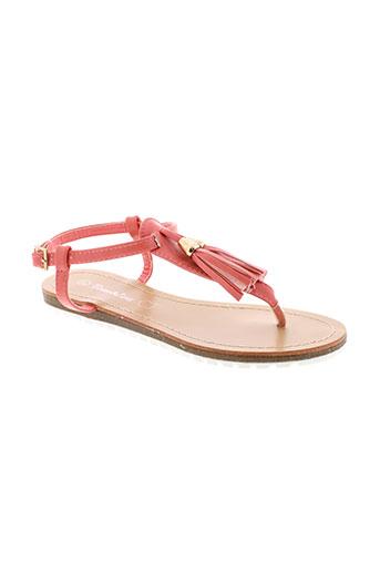 tom et eva sandales et nu et pieds femme de couleur rose