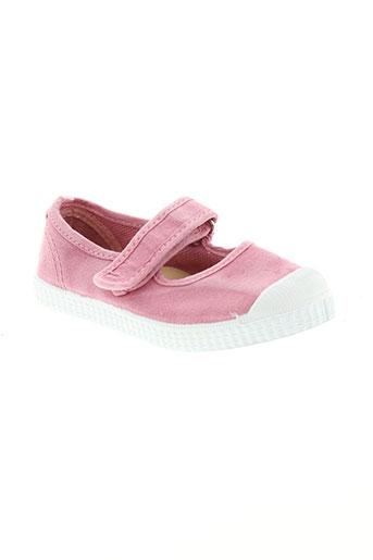 tty ballerines fille de couleur rose