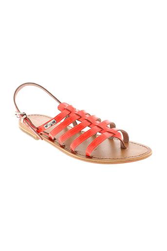 les et tropeziennes sandales et nu et pieds femme de couleur orange