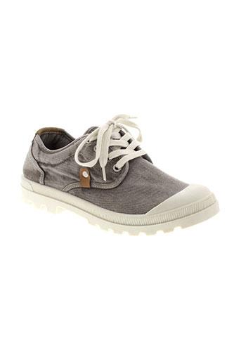 mustang baskets homme de couleur gris