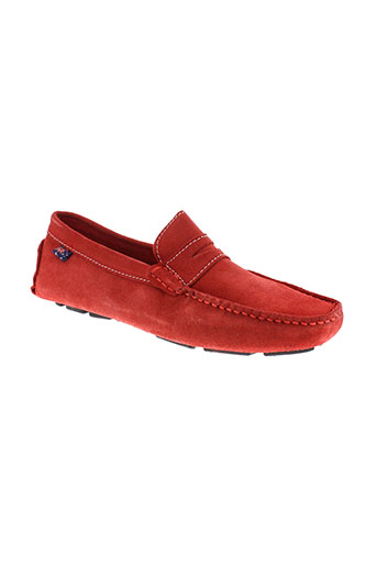 roadsign mocassins homme de couleur rouge