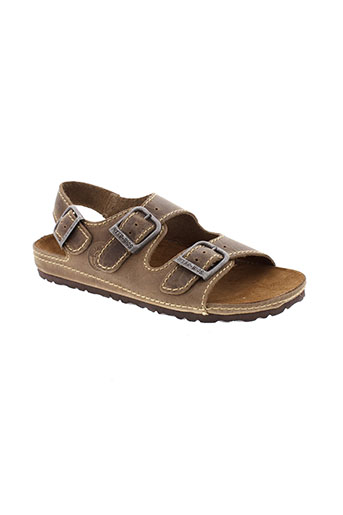 inter et bios sandales et nu et pieds homme de couleur marron