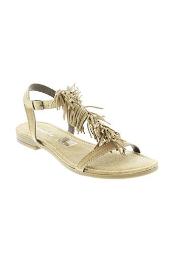 metamorf et ose sandales et nu et pieds femme de couleur beige