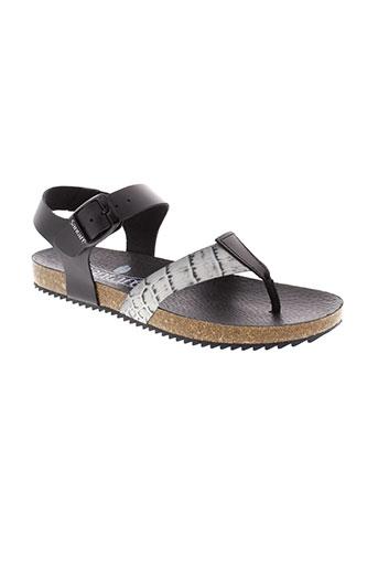 santafe sandales et nu et pieds femme de couleur noir
