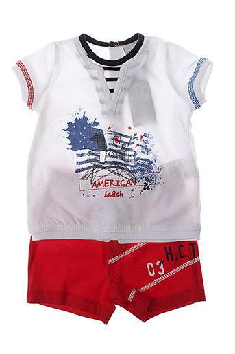 3 et pommes t et shirts et shorts garcon de couleur rouge (photo)