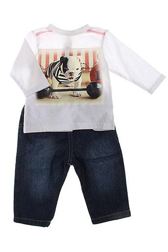 3 et pommes t et shirt et pantalon garcon de couleur bleu (photo)