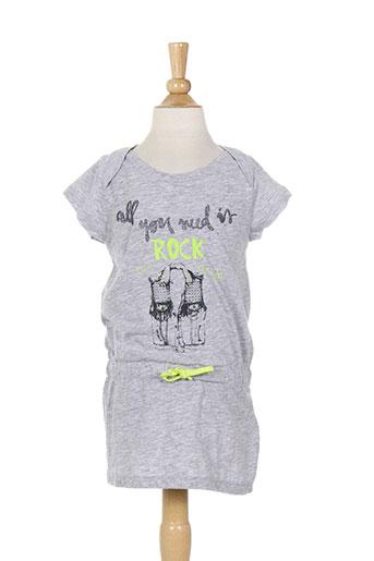 3 et pommes robes et courtes fille de couleur gris (photo)