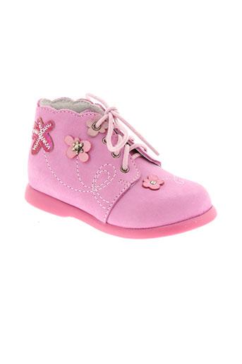 little et mary bottillons fille de couleur rose