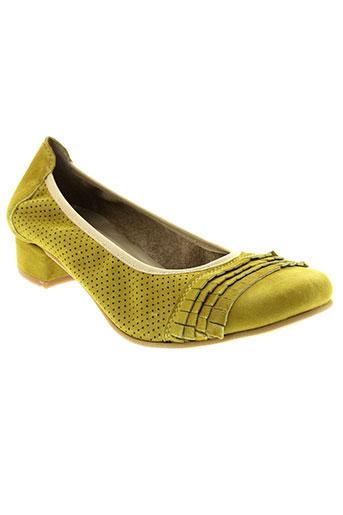 santafe ballerines femme de couleur jaune