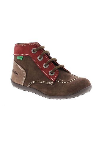 kickers bottillons garcon de couleur marron