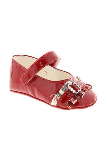 baby et chick chaussons fille de couleur rouge