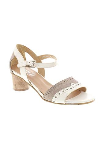 fidji sandales et nu et pieds femme de couleur beige