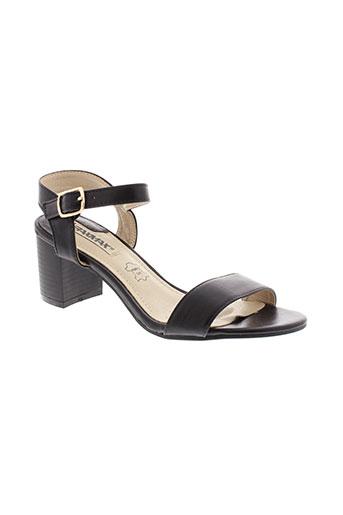 raxmax sandales et nu et pieds femme de couleur noir