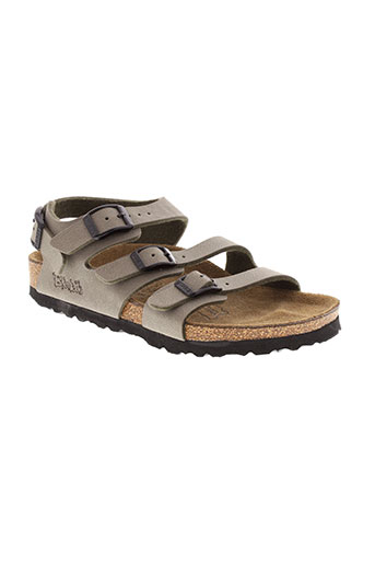 birki et s sandales et nu et pieds enfant de couleur marron