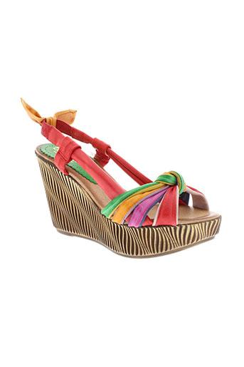 bertuchi sandales et nu et pieds femme de couleur rouge