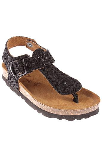 reqins sandales et nu et pieds fille de couleur noir